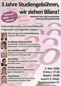 Plakat-3-Jahre Studiengebuehren-wir-ziehen-Bilanz